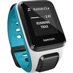 TomTom Spark Music Small White / Scuba Blue GPS Enabled Fitness Watch